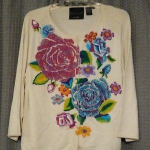 Michael Simon embroidered cardigan. Stunning!